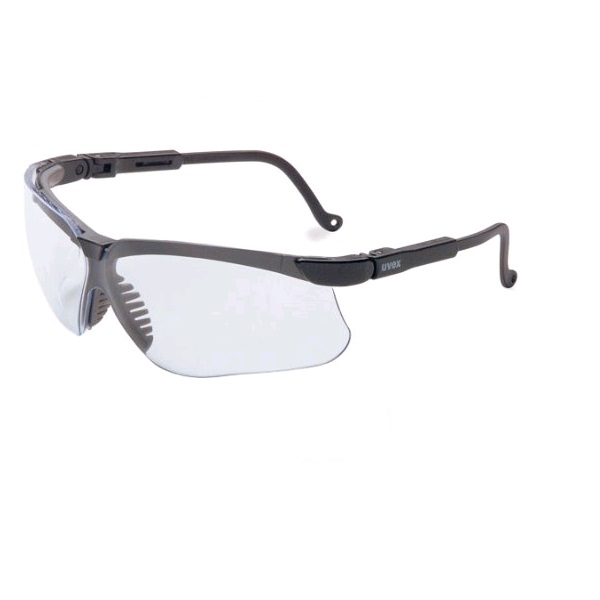 Glasses, Safety, Gensis, ~ Clr Lens, Coated - Clear Lens