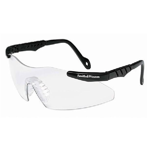 Safety Glasses, Clear Len ~ Black Frame 12 Per Box - Clear Lens